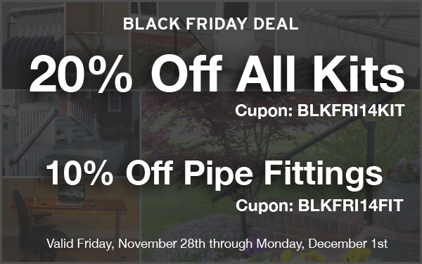 20% off Kits and 10% off Fittings - Black Friday