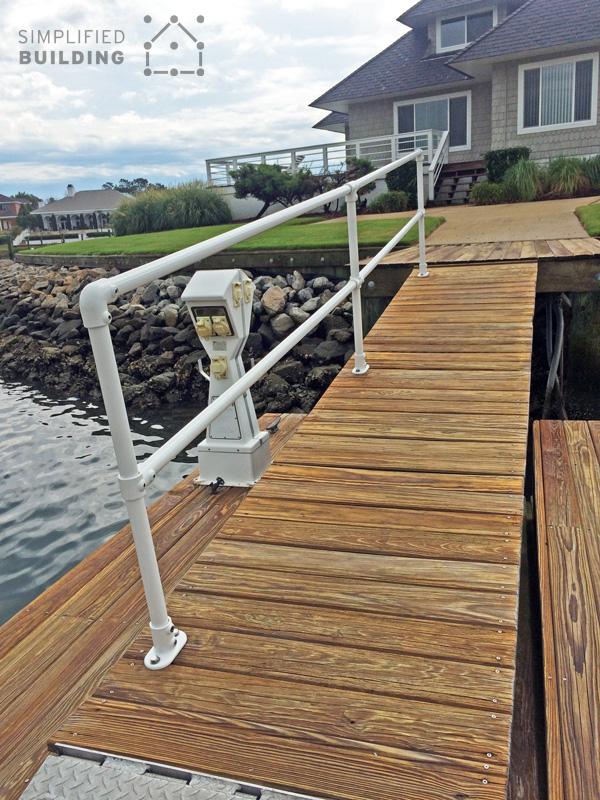 Corrosion Resistant Boat Dock Railing