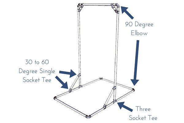 diy free standing pull up bar