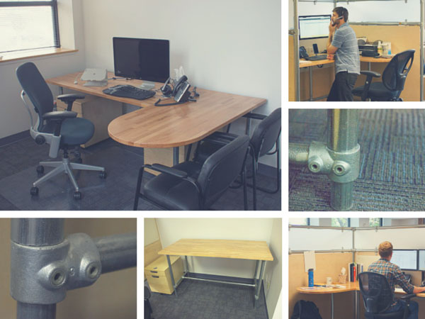 Modern office design made easy with pipe and fittings for Ideal office layout