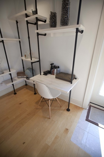 shelf ideas built with industrial pipe black steel pipe furniture