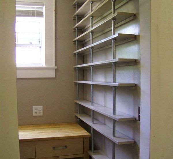 Kitchen Storage Shelf: 59 DIY Shelf Ideas Built With Industrial Pipe
