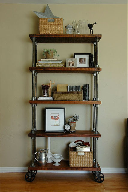 59 DIY Shelf Ideas Built With Industrial Pipe