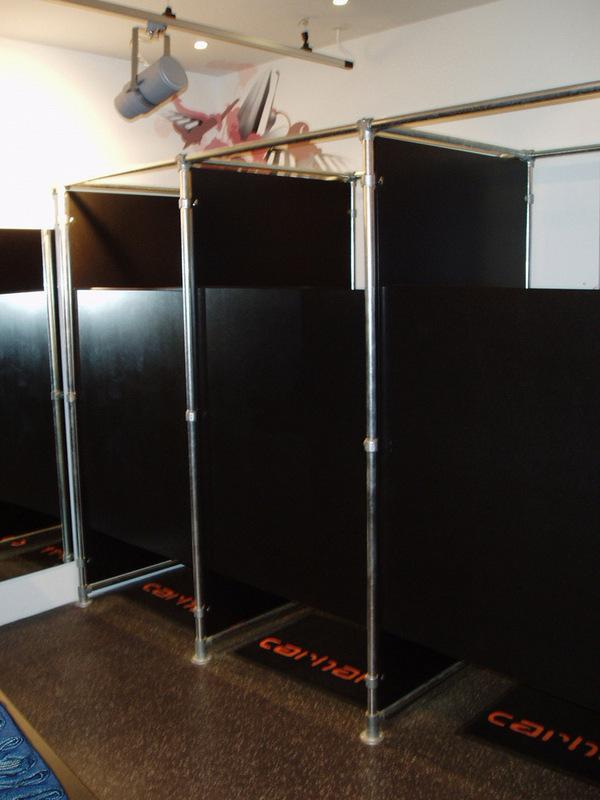 Retail clothing racks stylish easy to configure racks for Pvc pipe dressing room