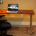 Pipe Desk Frames Attach To Any Table Top