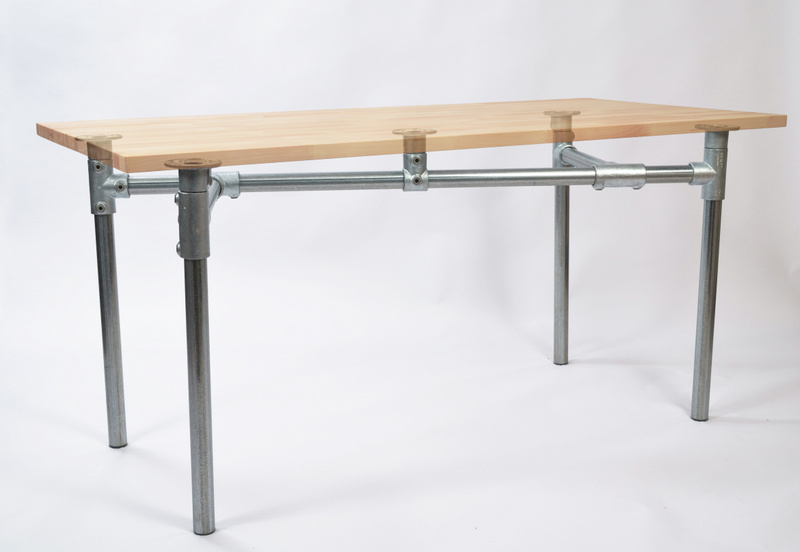 basic pipe desk frame